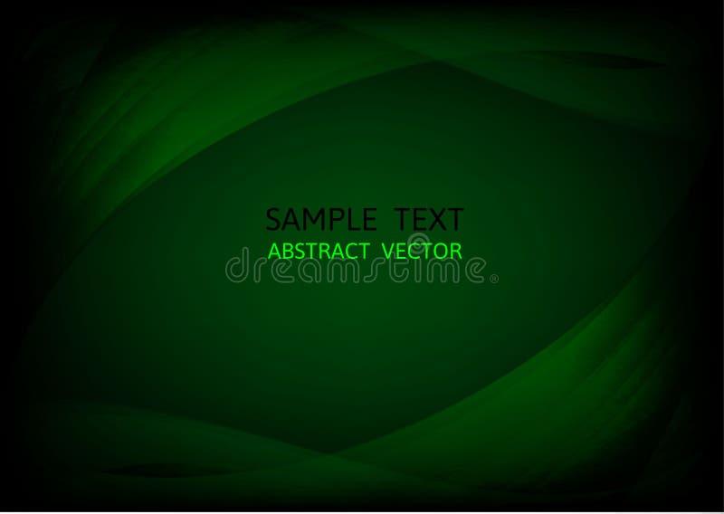 Fondo verde oscuro abstracto del vector de onda diseño gráfico de vector ilustración del vector