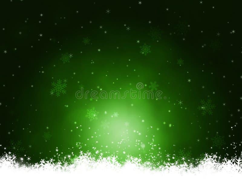 Fondo verde oscuro del invierno stock de ilustración
