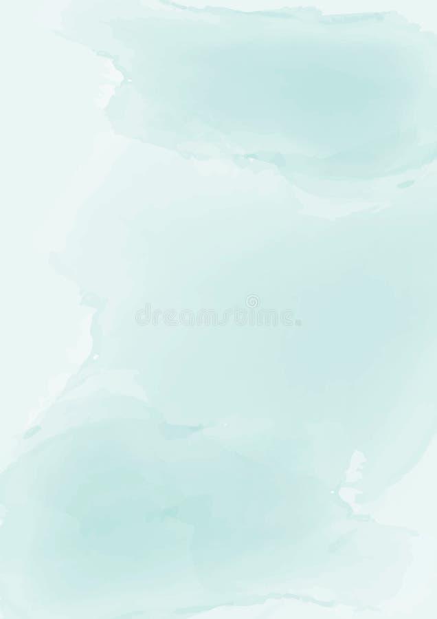 Fondo verde pastello astratto verticale della carta dell'acquerello royalty illustrazione gratis
