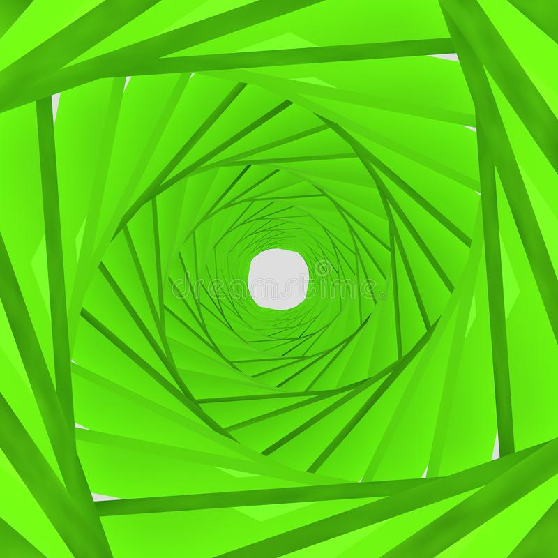 Fondo verde, representación 3d ilustración del vector