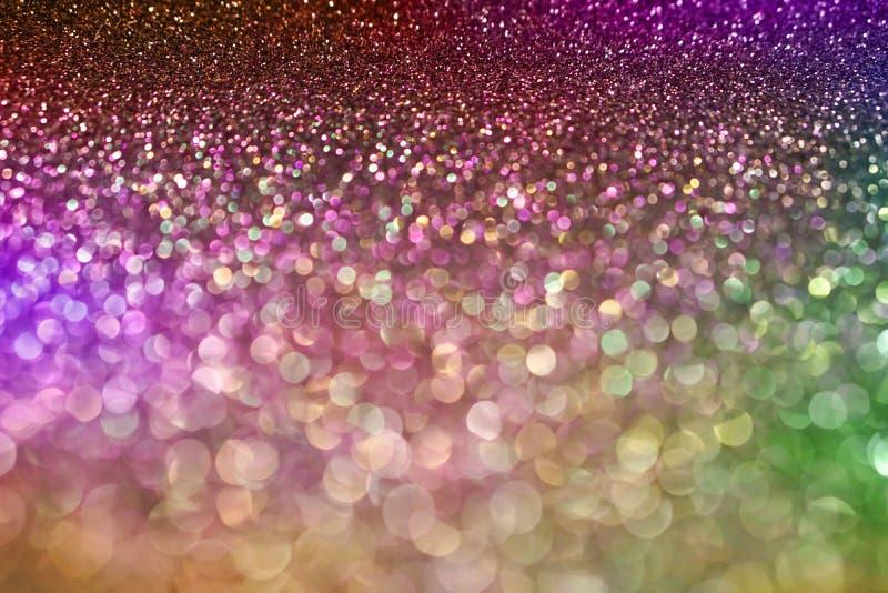 Fondo verde rosado púrpura en colores pastel del brillo de la luz del bokeh para la Navidad fotografía de archivo libre de regalías