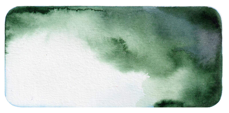 Fondo verde scuro dell'acquerello fotografie stock