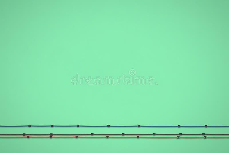 Fondo verde Textured Textura mínima de la vista delantera Ejemplo plano de la endecha 3D ilustración del vector