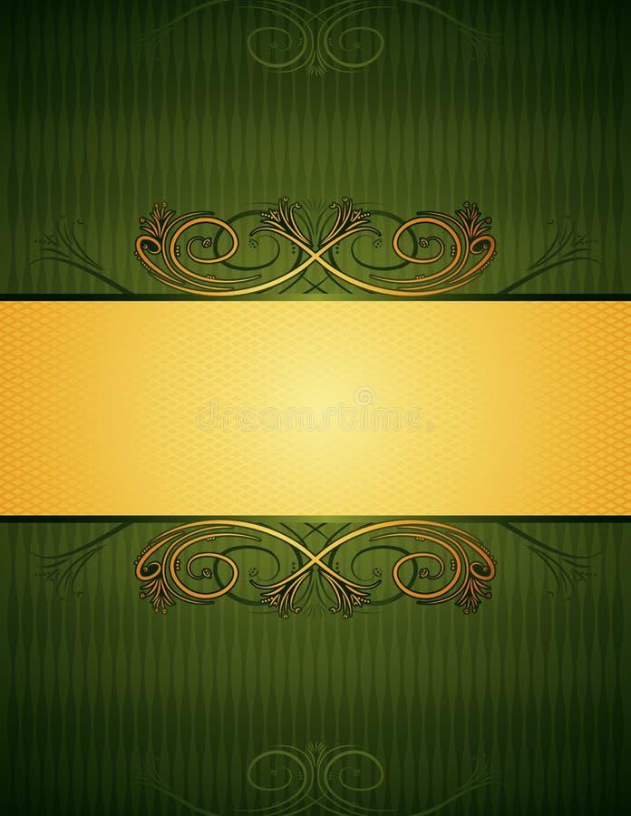 Fondo verde, vector ilustración del vector