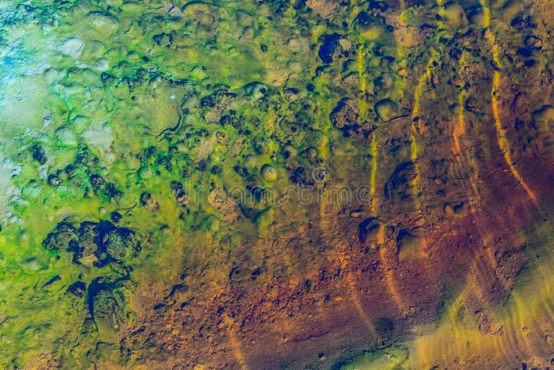 Fondo verde y amarillo abstracto imagenes de archivo