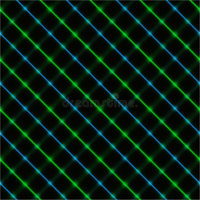 Fondo verde y azul cruzado ilustración del vector