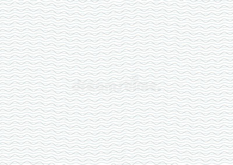 Fondo verde y azul del guilloquis del certificado ilustración del vector