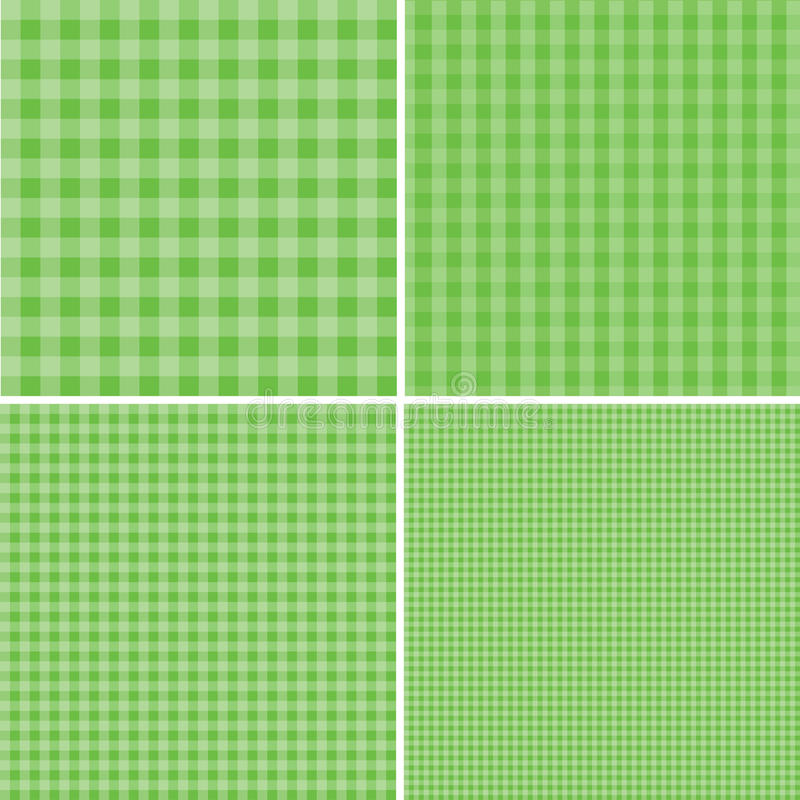 Fondo verde y blanco para las comidas campestres EPS 10 ilustración del vector