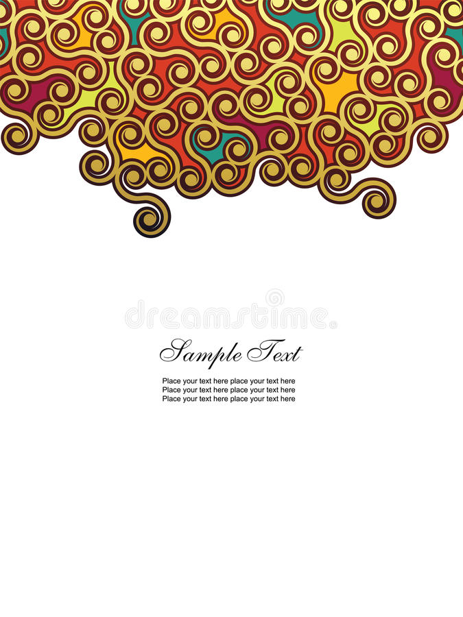 Fondo vertical abstracto stock de ilustración