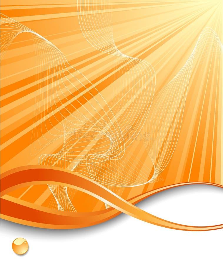 Fondo vertical anaranjado del rayo ilustración del vector