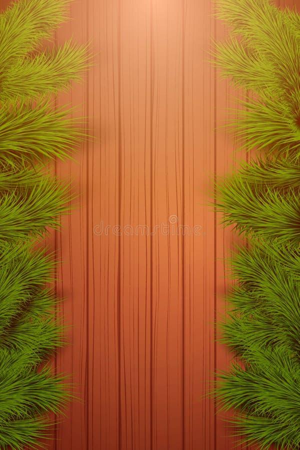 Fondo vertical de madera de la Navidad libre illustration