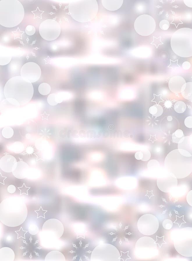 Fondo vertical ligero de la Navidad El contexto que brillaba intensamente del día de fiesta empañó el bokeh Vector libre illustration