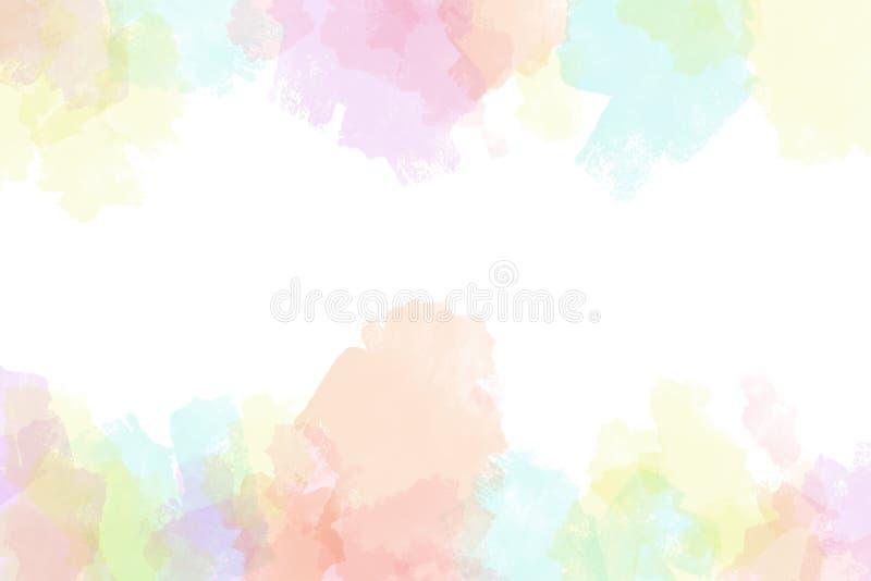 Fondo vibrante creativo dell'acquerello di lerciume illustrazione vettoriale