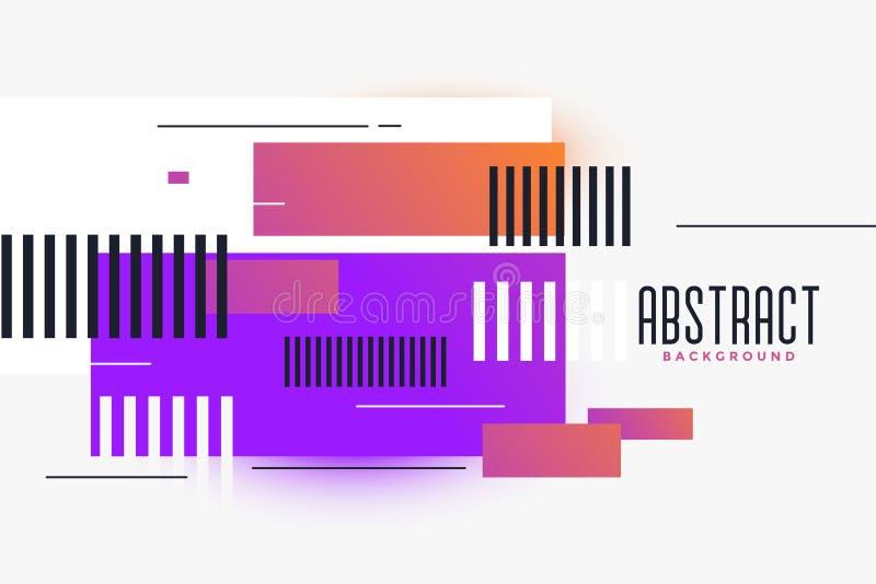 Fondo vibrante de las formas abstractas de los rectángulos libre illustration