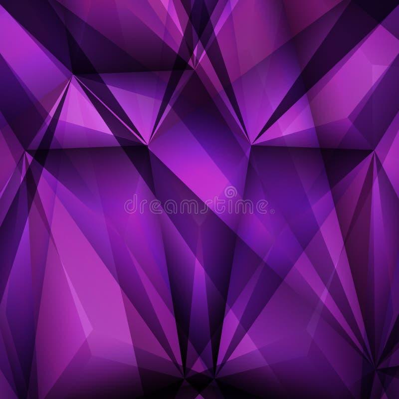 Fondo viola geometrico astratto Illustrazione di vettore illustrazione di stock