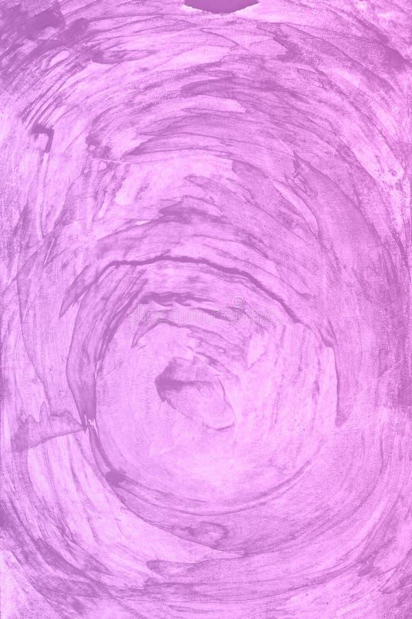 Fondo violeta de la pintura de la acuarela Mano mágica del arte dibujada fotos de archivo