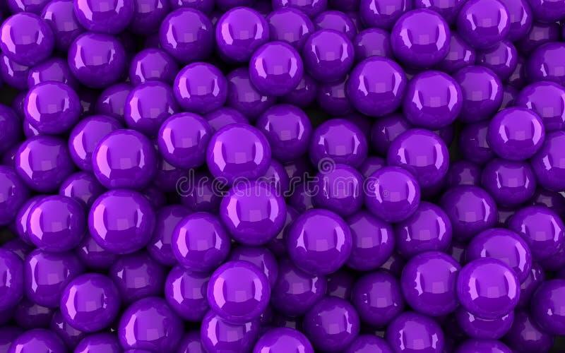 Fondo violeta de las bolas (3d rinden) libre illustration