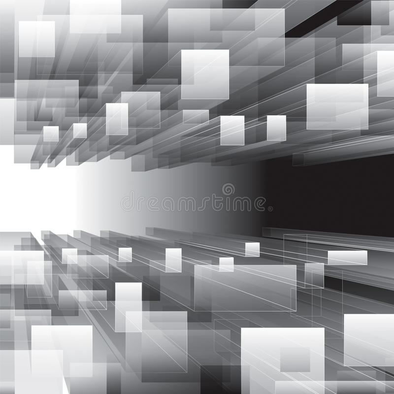 Fondo virtual de la perspectiva stock de ilustración