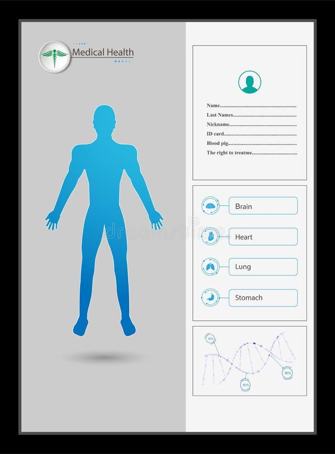 Fondo virtual del concepto de la innovación de la atención sanitaria del sistema futuro del holograma del interfaz de Hud libre illustration
