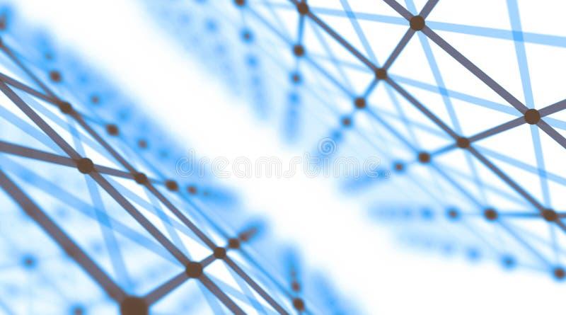 Fondo virtual futurista de la tecnología, cables ópticos virtuales de la fibra, conexión de la fibra, concepto de los telecomunic imagenes de archivo