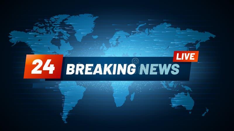 Fondo vivo de las noticias de última hora Fluir el título global de las noticias de Internet TV en concepto del vector del contex ilustración del vector