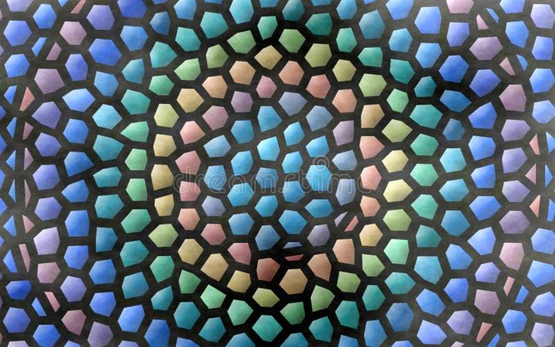 Fondo vivo variopinto dell'estratto del mosaico con i poligoni illustrazione vettoriale
