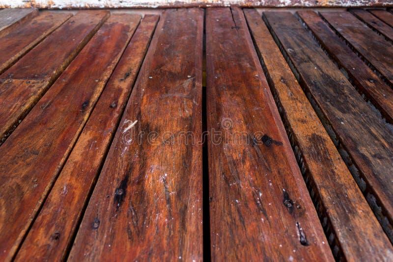 Fondo vuoto di prospettiva di struttura del pavimento del pannello di legno fotografie stock