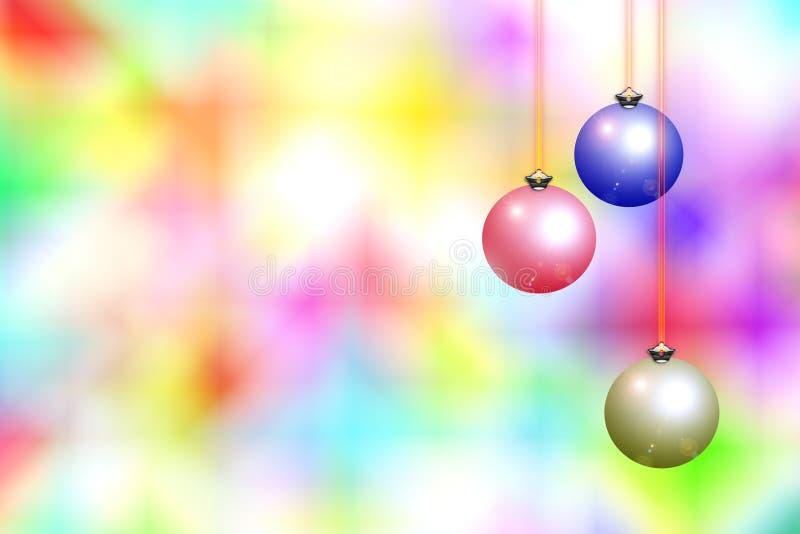 Fondo y decoraciones de la Navidad ilustración del vector