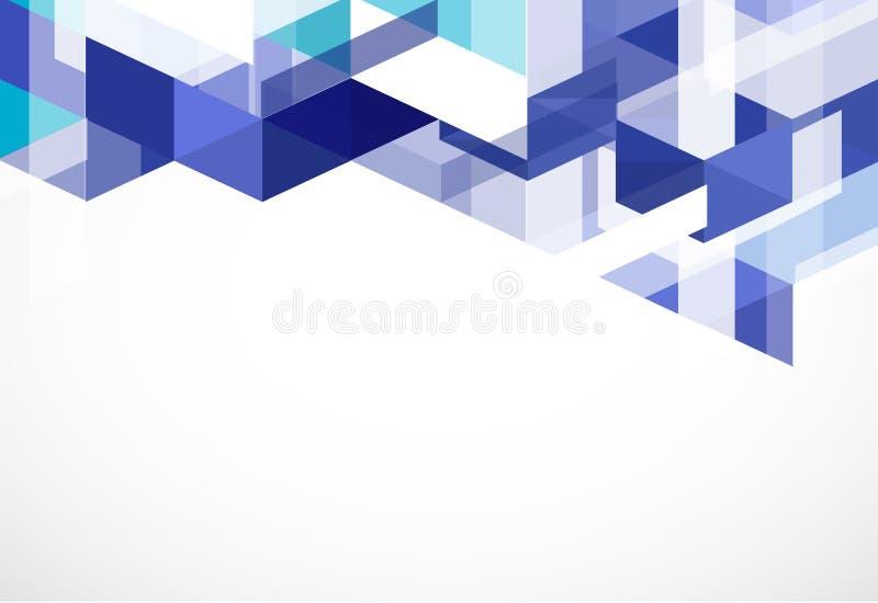 Fondo y espacio azules modernos del polígono para su texto ilustración del vector