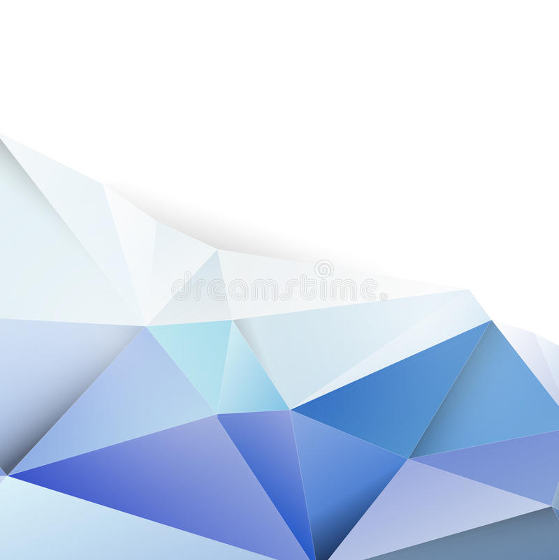 Fondo y espacio azules modernos del polígono para su texto libre illustration