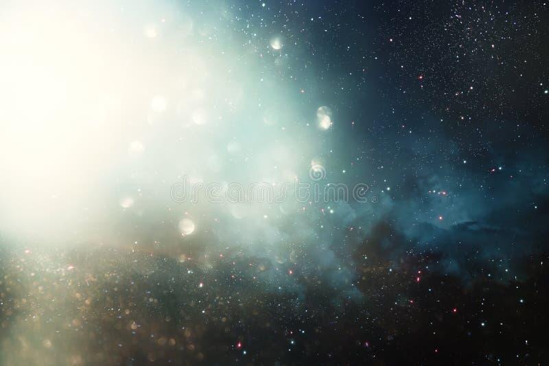 Fondo y extracto Galaxia, nebulosa y textura estrellada del espacio exterior fotos de archivo libres de regalías