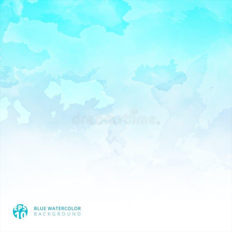 Fondo y textura azules claros de la acuarela con el espacio de la copia para libre illustration