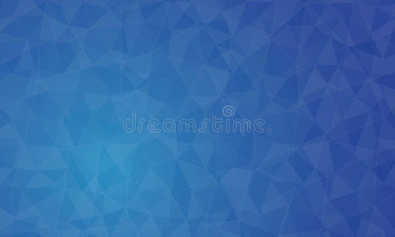 Fondo y textura azules del polígono stock de ilustración