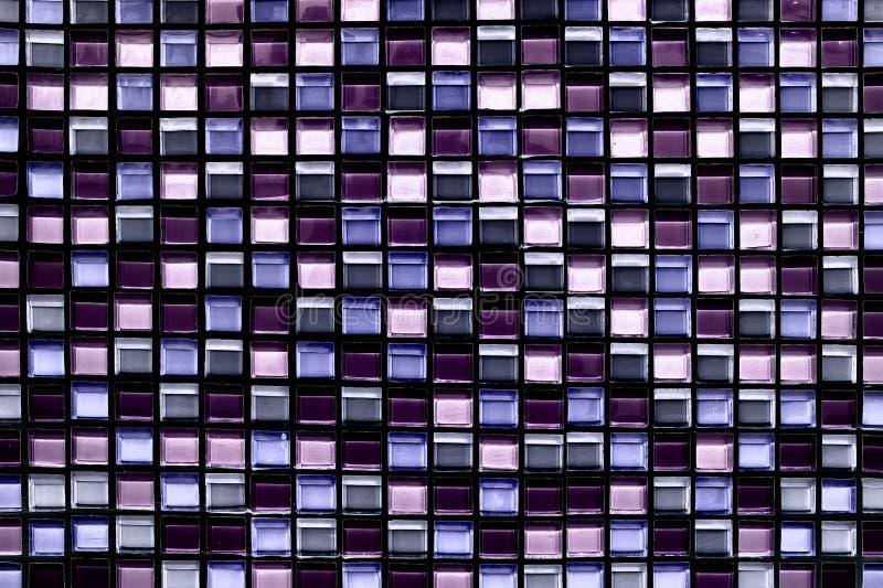 Fondo y textura cuadrados abstractos del mosaico del pixel imagen de archivo libre de regalías