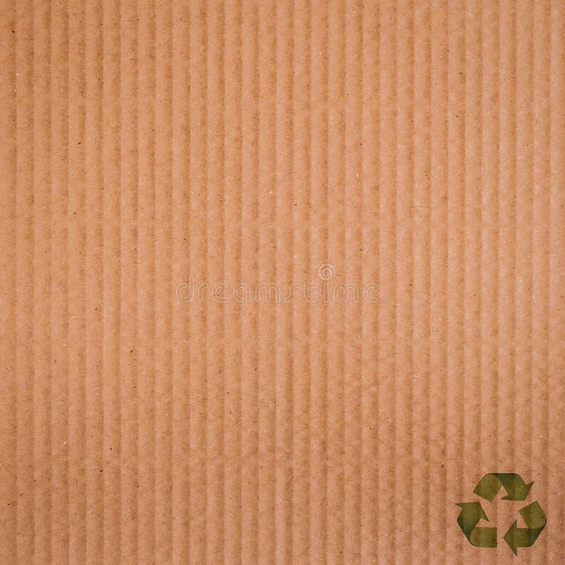 Fondo y textura de la cartulina del papel de Brown imagen de archivo