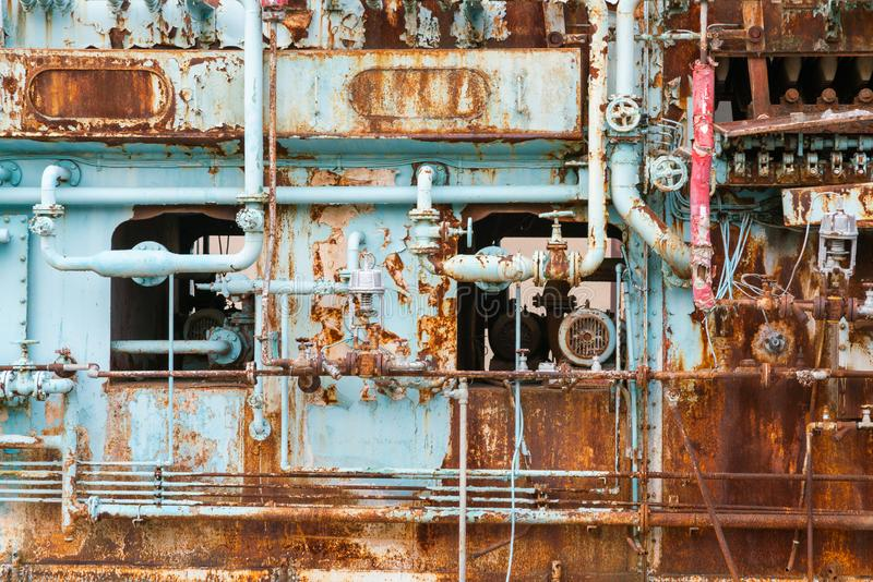Fondo y textura de la maquinaria del metal del vintage imagen de archivo