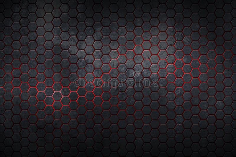 fondo y textura del hexágono libre illustration