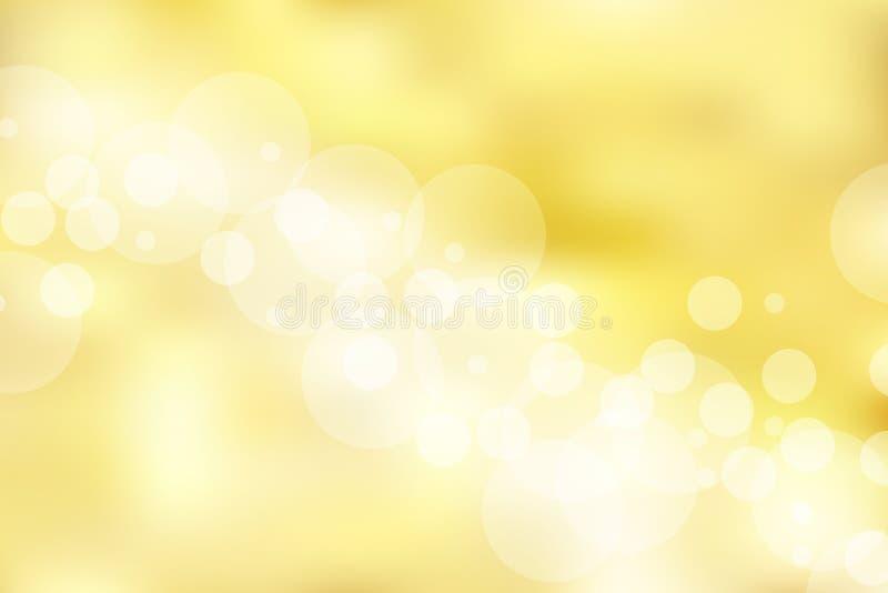 Fondo y textura del oro con el bokeh elegante, brillante, de lujo, ilustración del vector