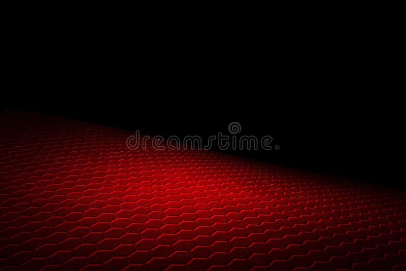 Fondo y textura rojos del hexágono libre illustration