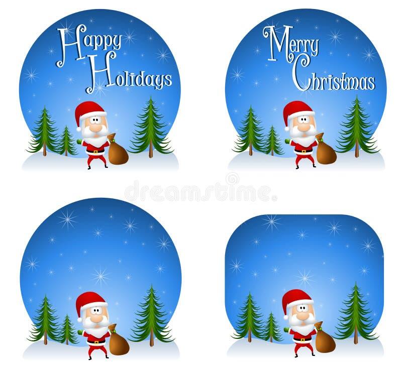 Fondos 2 de Papá Noel ilustración del vector