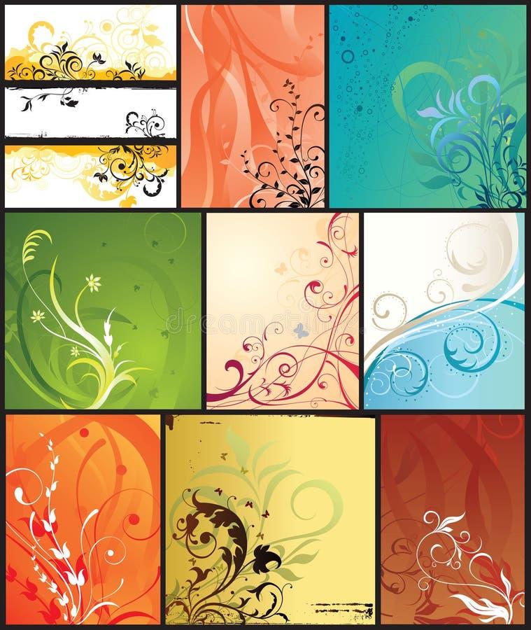Fondos abstractos ilustración del vector
