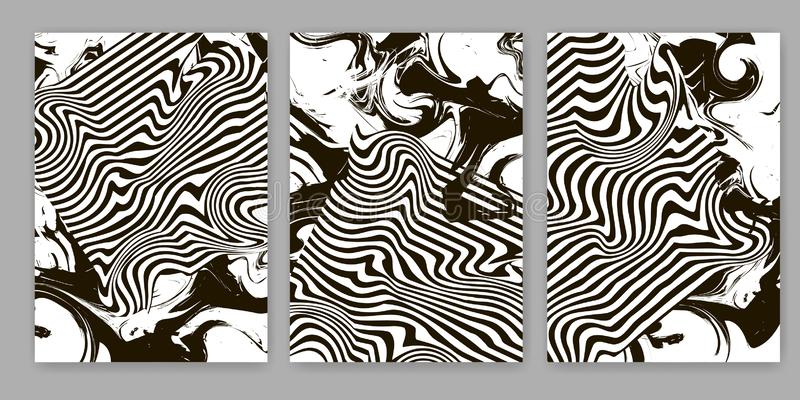 Fondos abstractos blancos y negros Plantillas para la cubierta, tarjeta, bandera, cartel libre illustration