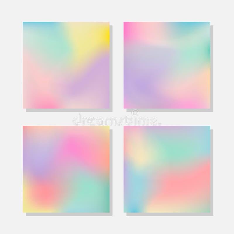 Fondos abstractos borrosos del color en colores pastel stock de ilustración