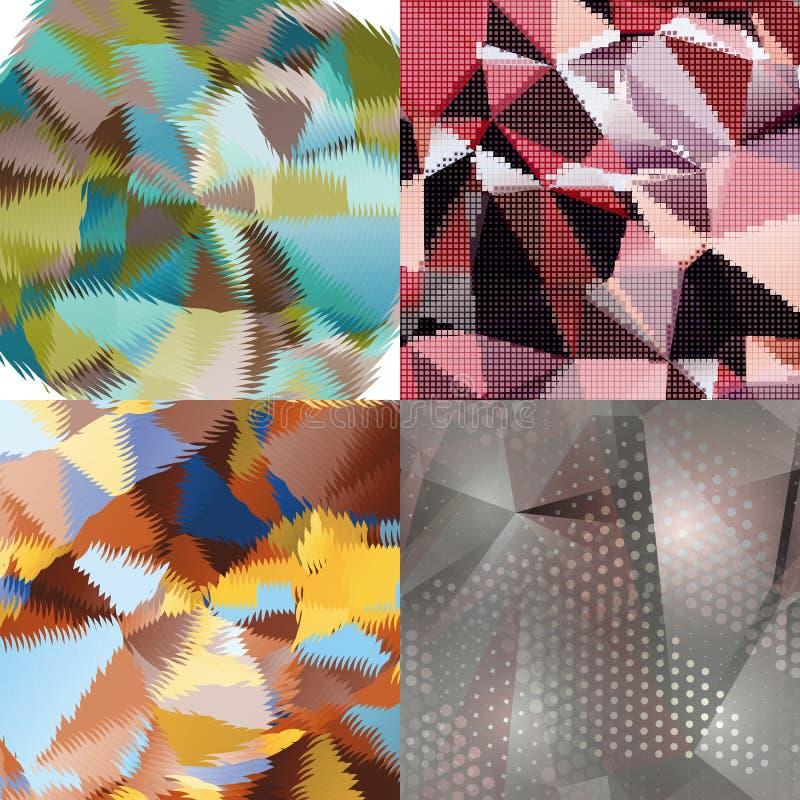 Fondos abstractos con los triángulos y las formas geométricas coloridas libre illustration