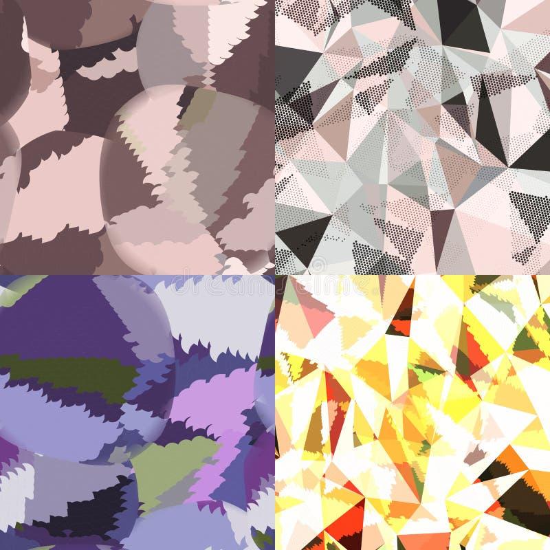 Fondos abstractos con los triángulos y las formas geométricas coloridas ilustración del vector