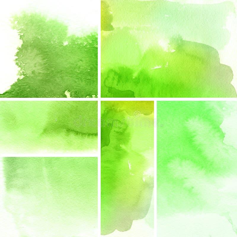 Fondos abstractos de la acuarela ilustración del vector