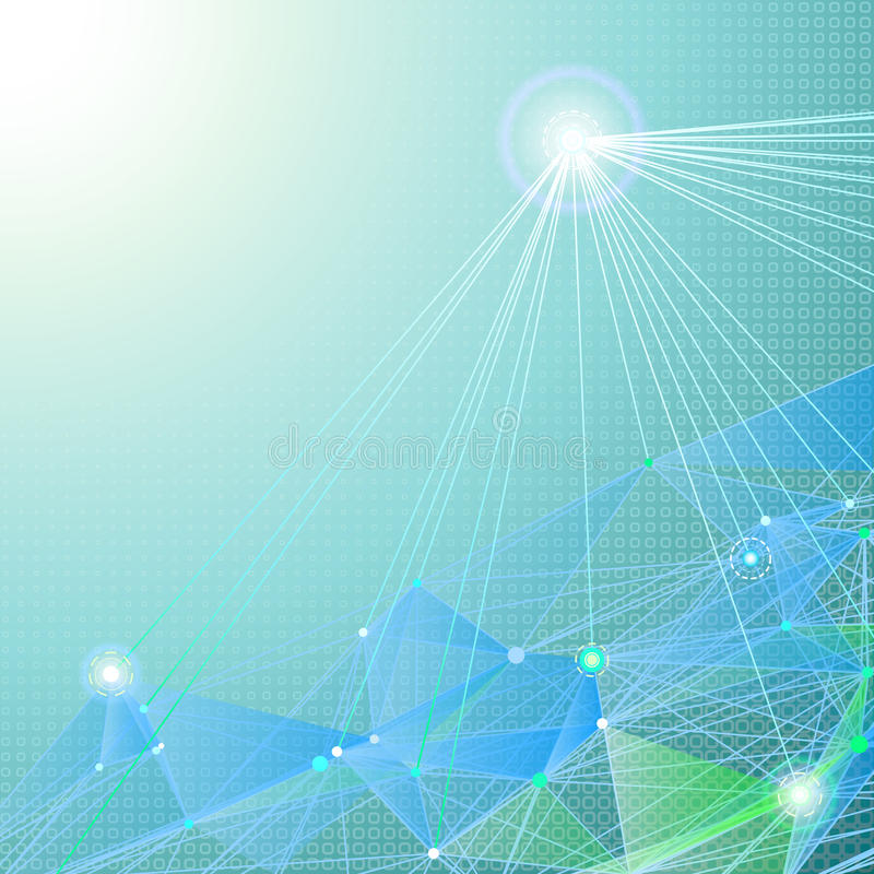 Fondos abstractos de la comunicación Ilustración stock de ilustración