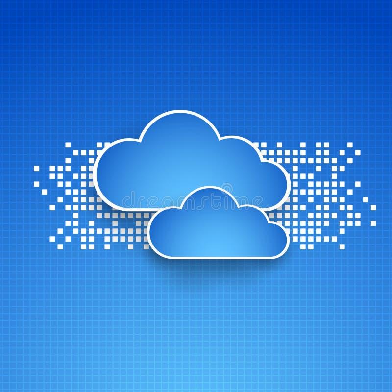Fondos abstractos del tema de la nube de la tecnología stock de ilustración