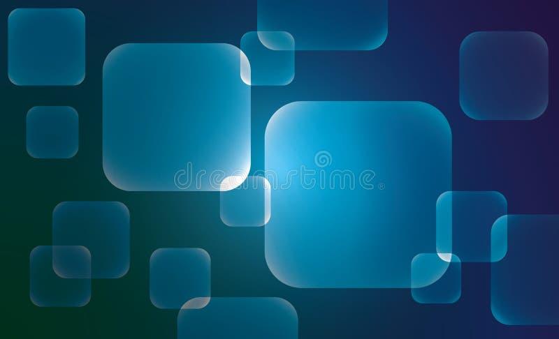 Fondos abstractos del vector de los cuadrados de la geometría libre illustration