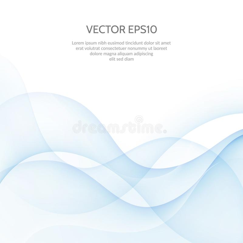 Fondos abstractos del vector Fondo brillante del negocio con la onda libre illustration